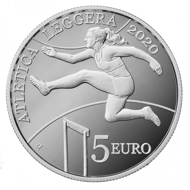 5 euro argento proof atletica