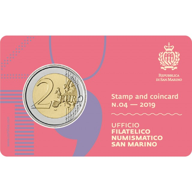 Stamp and coincard n.04 - 2019