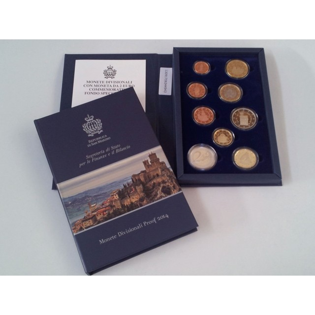 Divisional Coins Set in Proof and a 2 Euro commemorative coin in proof