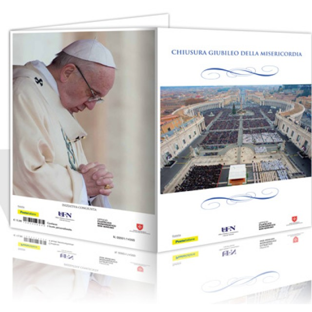 """Joint Philatelic Folder """"Conclusion of the Jubilee of Mercy"""""""